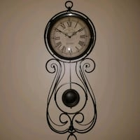 black and white analog wall clock Johnstown, 15904