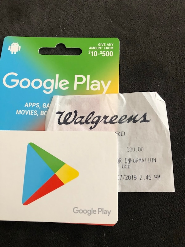 Google Play Card Worth $500 for $380 Local inquiries only Please