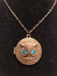 Unique Vintage Owl necklace with Turquoise eyes Gainesville, 20155