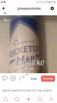 Bucket list map Nordstrand, 1177