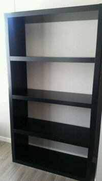 Ikea black shelf.