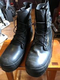 Excellent Pressurized Black Rubber Military Boots Size 13-14R