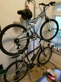 blue and white hardtail mountain bike Tysons, 22182
