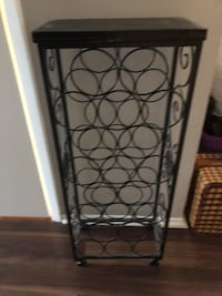 black metal wine bottle rack Markham, L3P 3W5