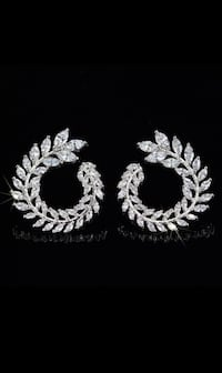 Sterling silver earrings AAA CZ for women Mississauga, L5J 2B9