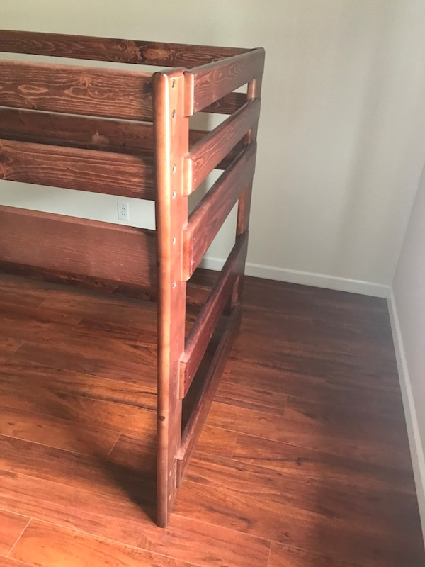 Used Loft Bed And Mattress Living Spaces Like New For Sale In Santa