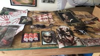horror themed poster and decor
