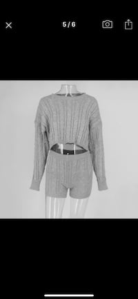 Knitted two-piece women's outfit