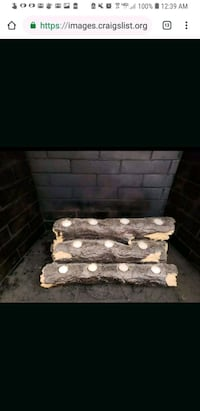 Indoor fake fireplace log with tealights San Bruno, 94066