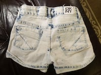white and blue denim short shorts size 8 Reston, 20194