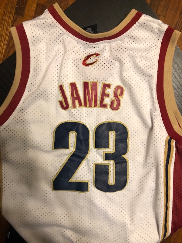official photos 1674d 8cf77 Lebron James Cleveland Cavaliers throwback Jersey