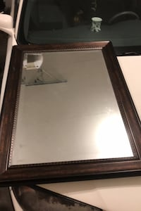 Nice large mirror with wood frame