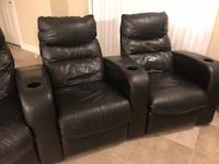 black leather 2-seat recliner Apopka, 32703