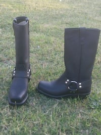 pair of black leather boots Manteca, 95336