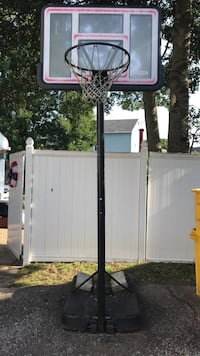 Used lifetime adjustable basketball hoop