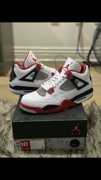 White-and-red air jordan 4 shoes Los Angeles, 91345