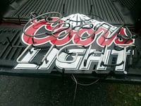 white and red coors light neon light signage Nazareth, 18064