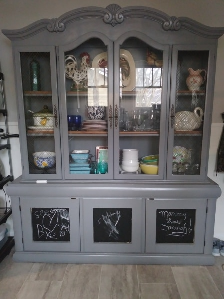 Used China Cabinet Large Heavy 2 Pc. For Sale In BATONROUGE