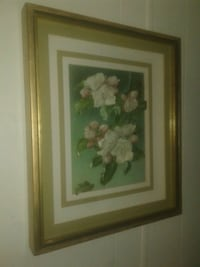 Vintage flower painting signed 22 hinches tall Lake Worth, 33463