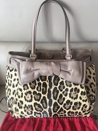 EUC Authentic Valentino bow embellished calf hair leopard print tote  Markham, L6G 9W1