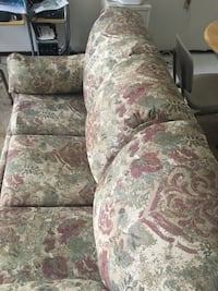 white and pink floral fabric 3-seat sofa New Haven, 25265