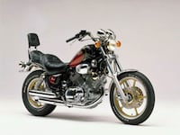 black and red cruiser motorcycle Cornwall, K6H 4E4