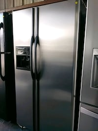 silver side-by-side refrigerator Houston, 77092