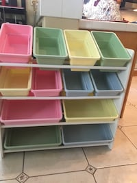 "16 Bin Toy Storage Shelf (33""W x 36""H x 12""D) Santa Clarita, 91354"