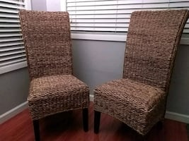 Incredible sturdy wicker chairs for sale!