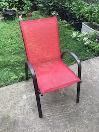 "Red Metal Deck Chair - 35 x 21 x 28"" Chicago, 60622"