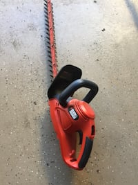 red and black Black & Decker hedge trimmer Menifee, 92585