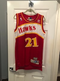 Original Dominique Wilkins Hawks Throwback Jersey Beverly Hills, 90210