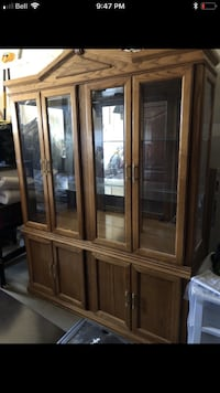 Brown wooden framed glass display China  Edmonton, T6C 2W6