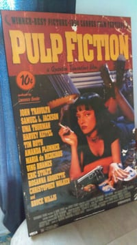 Pulp Fiction Wooden Wall Poster  Syracuse, 13207