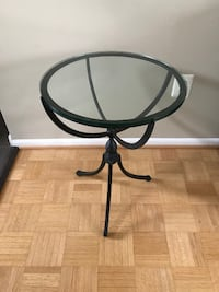 black metal frame glass top side table Annandale