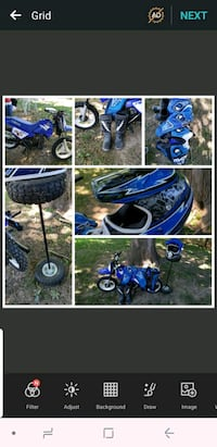 blue and black standard motorcycle