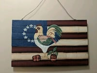 Painted Rooster on wood Agawam, 01001