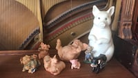 8 pc assorted pig figurines  Edmonton, T5T 0W6