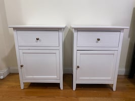 Two White Nightstands