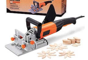Brand New in Box Wood Biscuit Plate Joiner Kit with 4 Inch Tungsten Ca