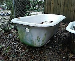 Antique claw foot cast iron bath tub