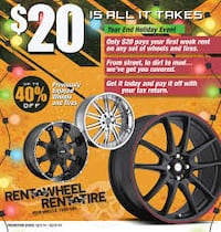 Rent A Wheel Rent A Tire poster LUBBOCK