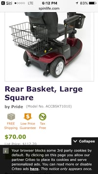 (New) head rest & rear basket for Jazzy mobile chair