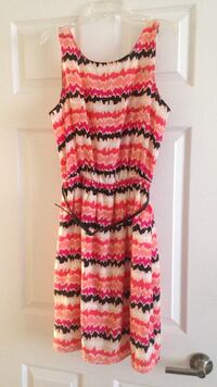 Multicolor Tank Dress with Belt - Size small (4-6) Alexandria, 22304