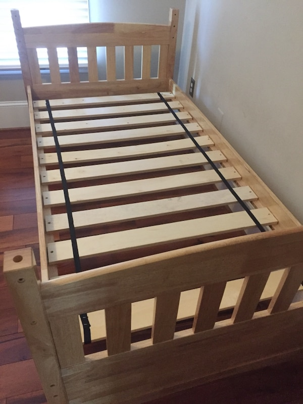 brown wooden bunk bed frame 1