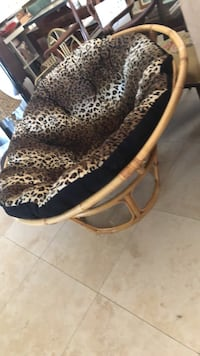 chair with new leopard cushion Oakland Park, 33334