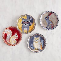NEW Pier 1 Harvest Critters Salad Plate Set