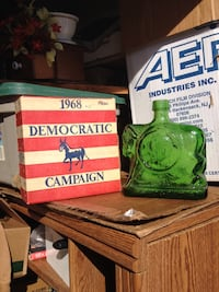 1968 campaign glass container