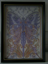 A4 BUTTERFLY PENCIL COLOUR WALL ART IN FRAME  London