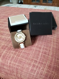 round silver Michael Kors analog watch with link bracelet DeLand, 32724